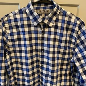 Express men's patterned button down shirt
